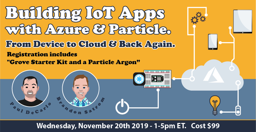 Banner for Building IoT Apps (2019) - Course Outline