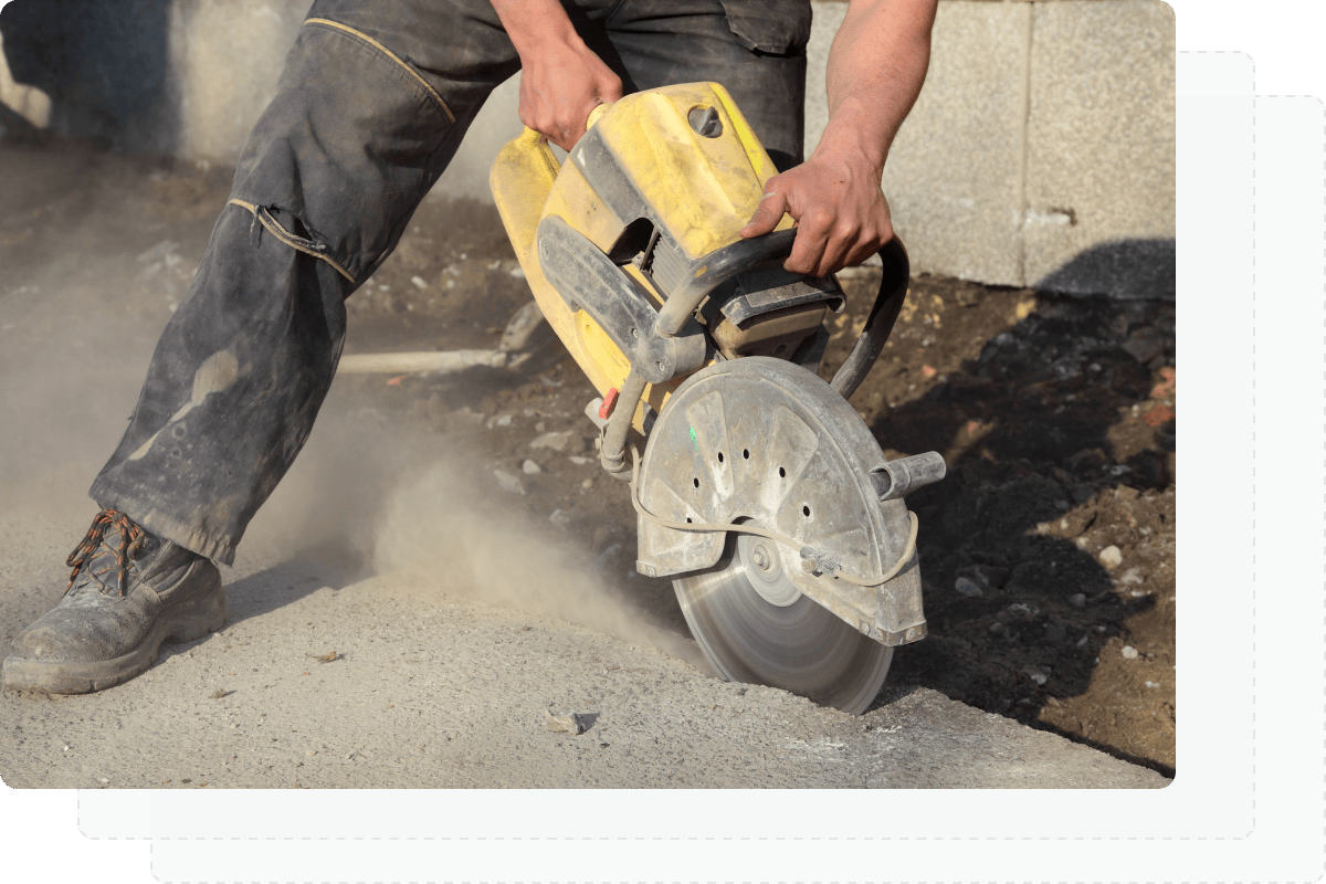 Equipment concrete saw