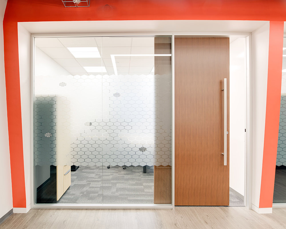 Textured Sliding Door with Fitting Glass Siding