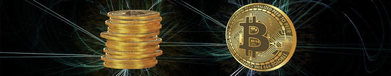 Bitcoin als Münzenstapel