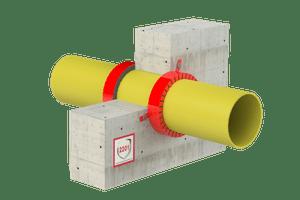Rješenje - Protupožarno brtvljenje gorivih cijevi i negorivih cijevi s gorivom izolacijom - FS Collar