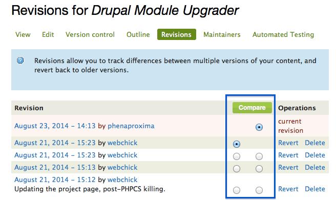 Drupal Revisions
