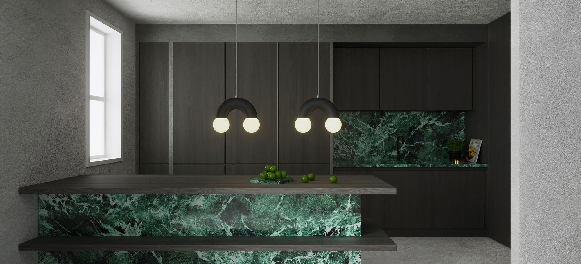 Rainbow kitchen green