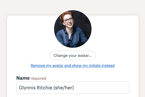 Basecamp - Adding pronouns to name field