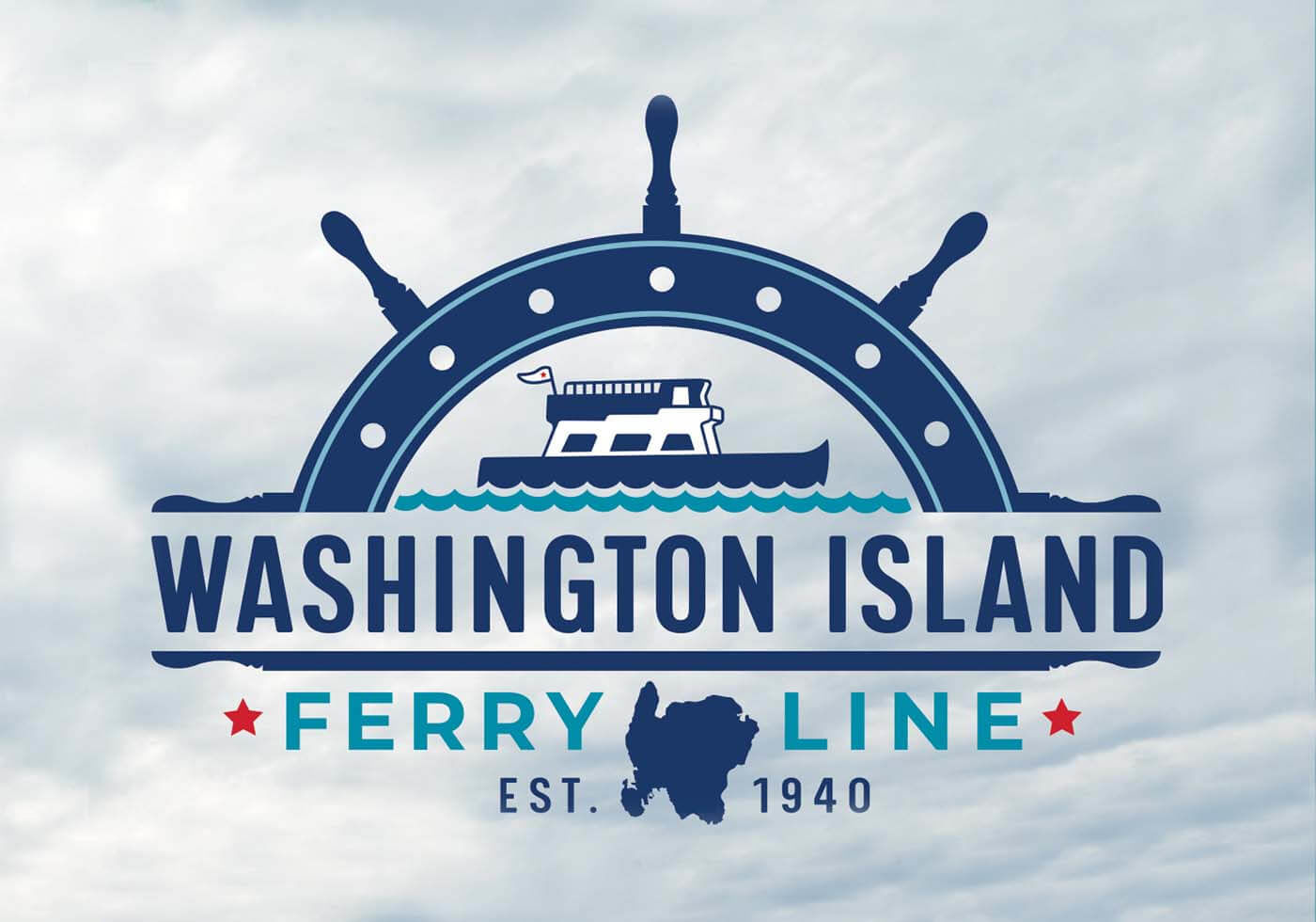 Washington Island Ferry New Logo Design