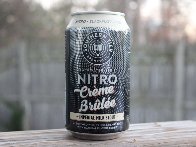 Crème Brûlée, a Imperial Milk Stout brewed by Southern Tier Brewing Company