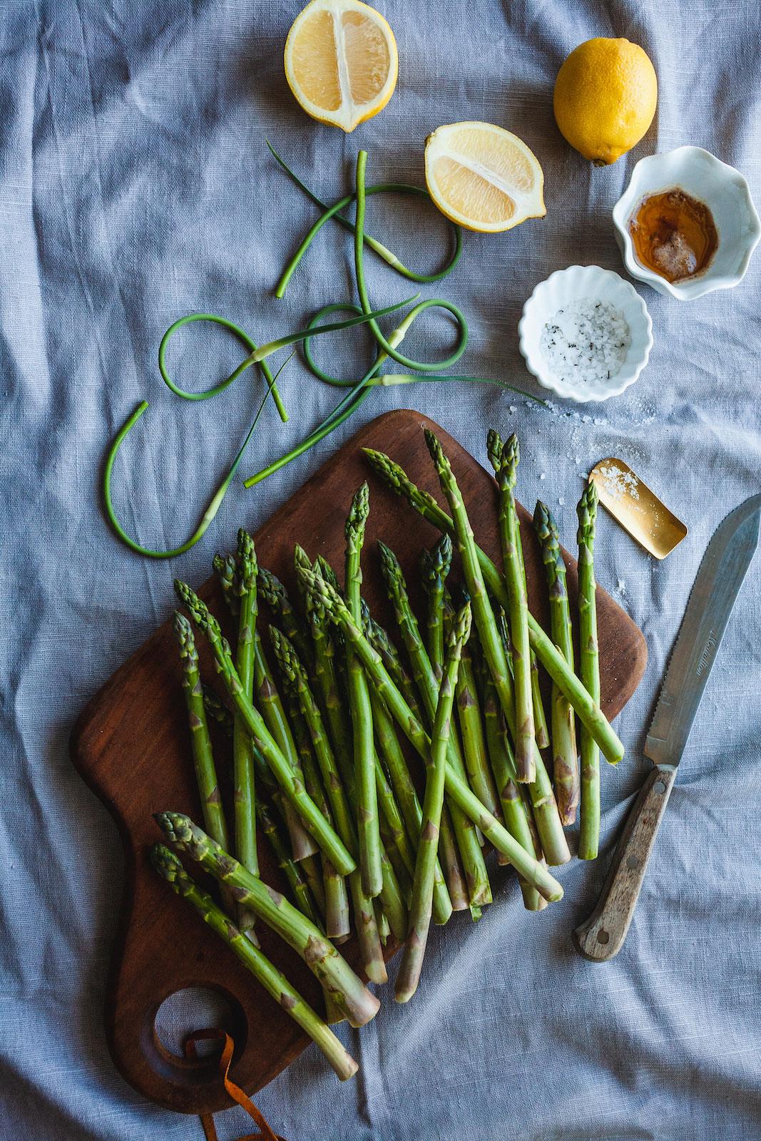 Brown Butter Lemon Garlic Grilled Asparagus