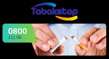 Tabakstop gebruikt een 0800-nummer.