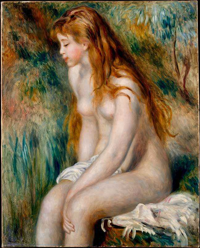 Renoir returned to what he did best at the end of his dry period: he had a unique ability to capture female expressions and form (demonstrated in Young Girl Bathing, 1893)