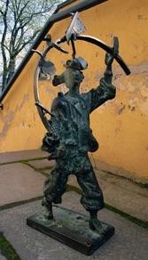 "Edgar Viies, Estonia. ""Does Miracles"" 1995. Bronze, 30x33x58"