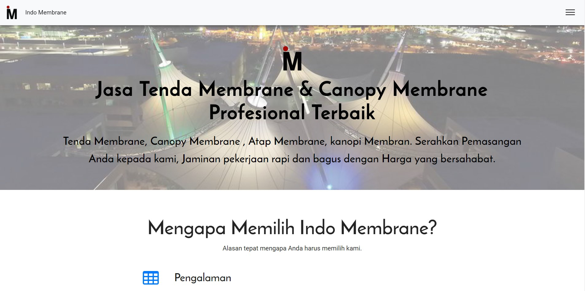 Indo Membrane - Jasa Kanopi Terbaik di Indonesia