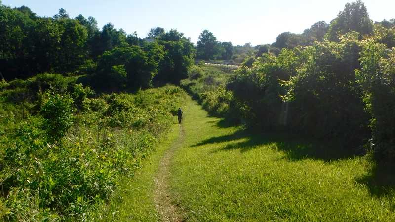 Trail next to Interstate 81