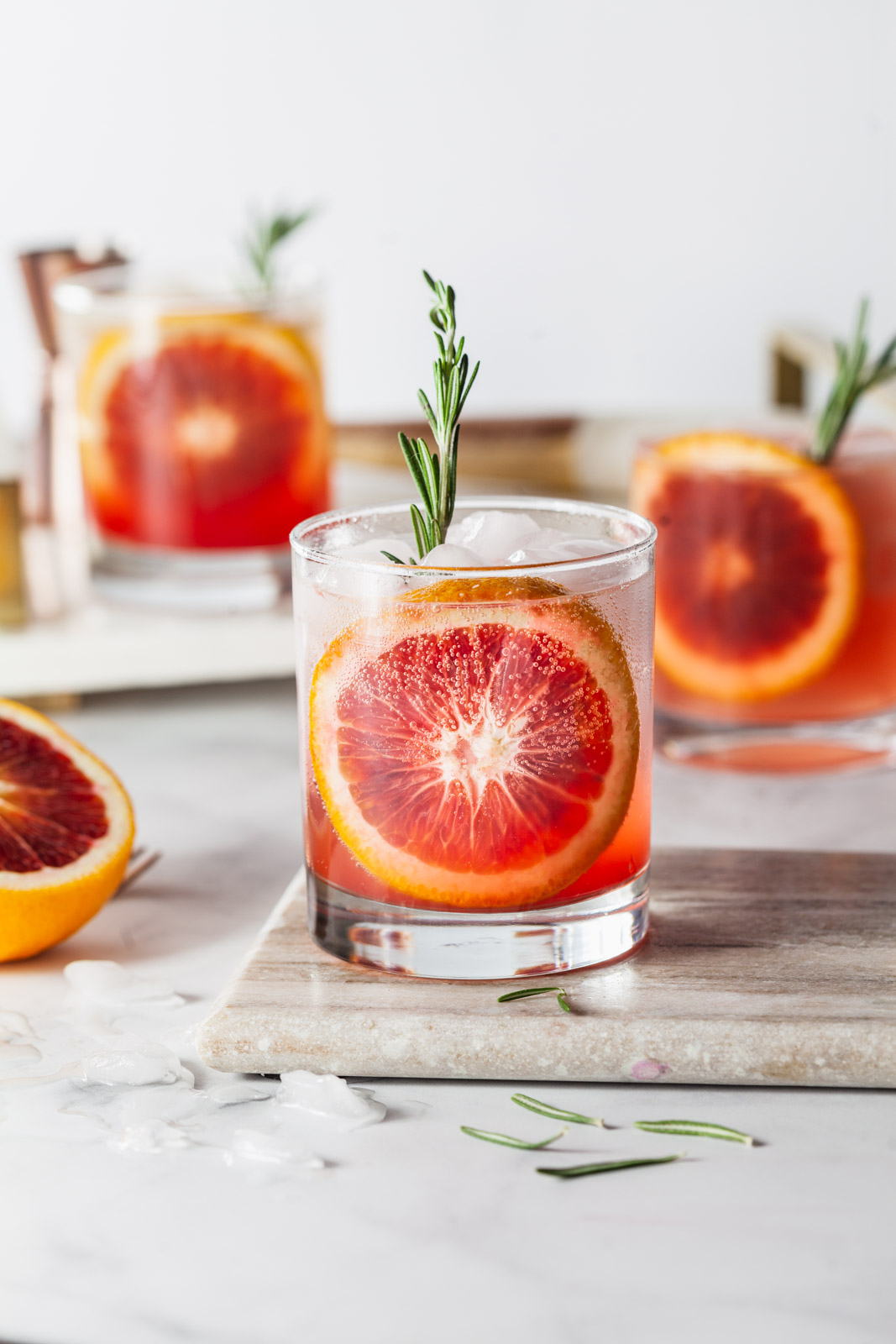 Blood Orange Vodka Sparkler