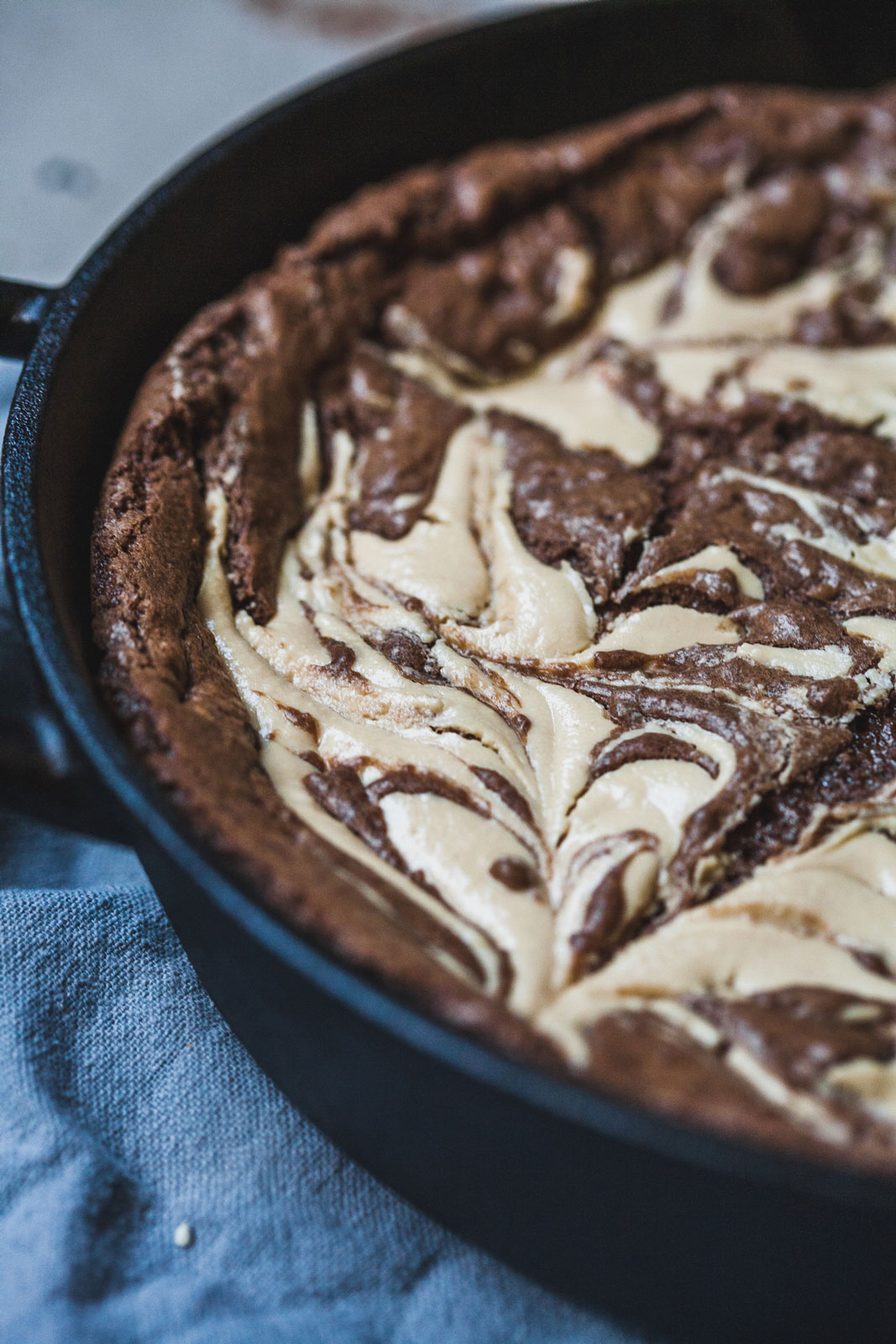 Double Chocolate Tahini Skillet Cookie