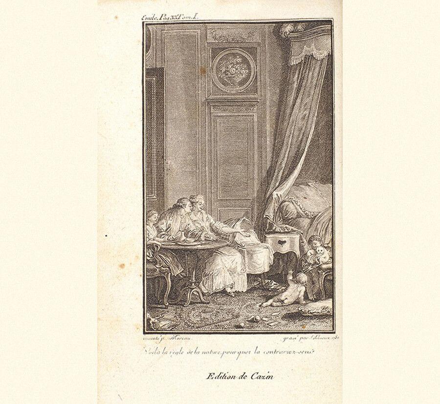 Запрещенное издание «Эмиль, или О воспитании» Жан-Жака Руссо. Т. 1-4. Лондон, 1781