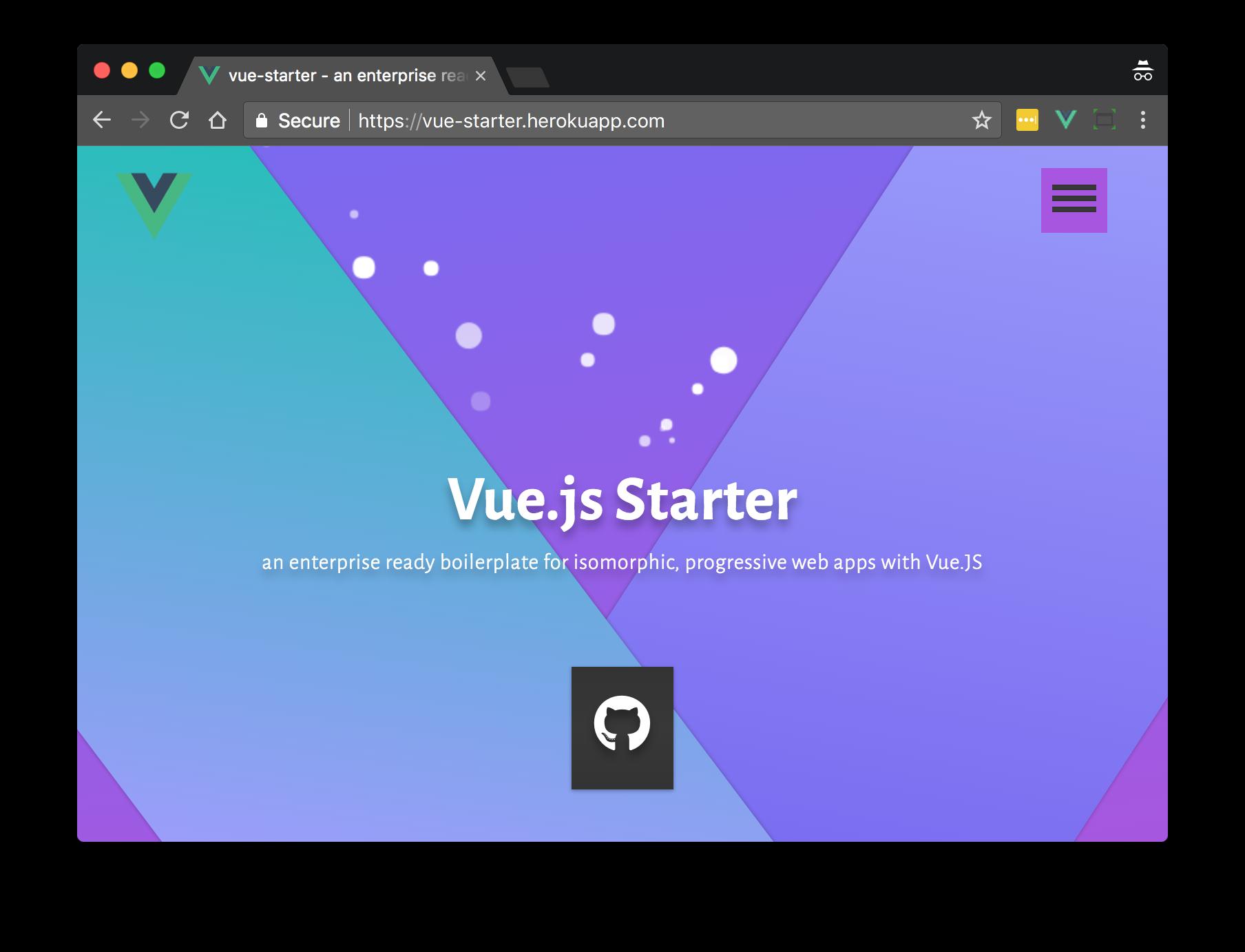 vue-starter screenshot