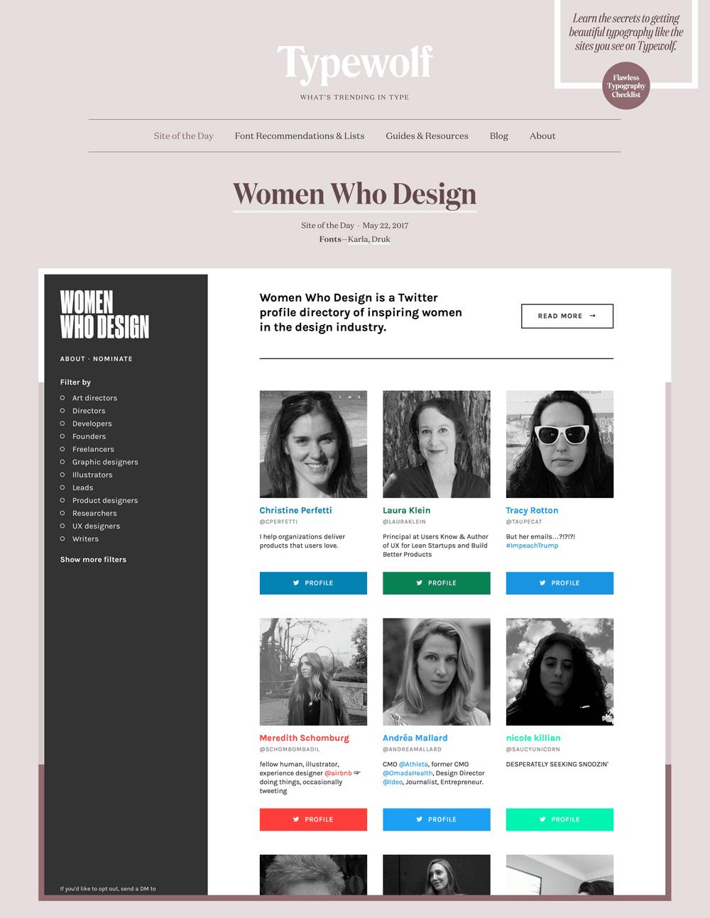 Women Who Design on Typewolf