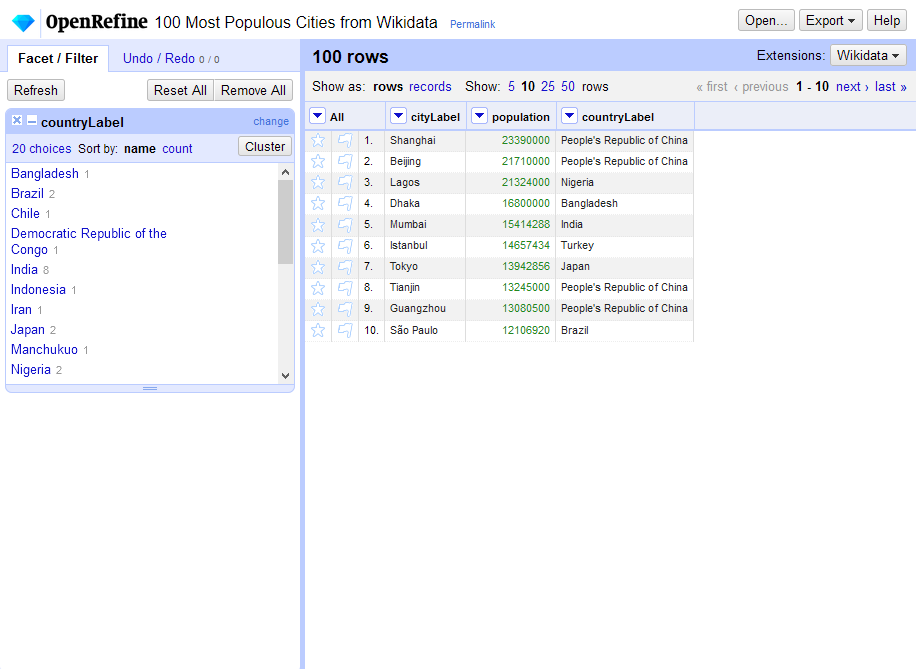 A screenshot of the project screen.
