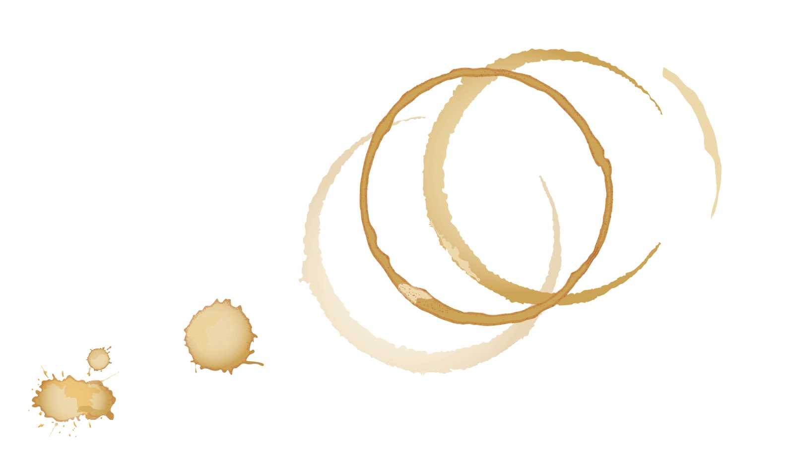 Darstellung von Kaffee Flecken zur illustration von Daten, die erfasst werden