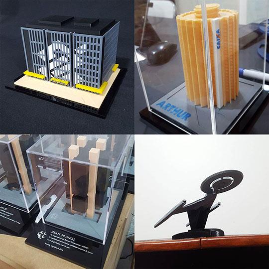 Exemplos de Presentes Personalizados incluindo Maquetes do Banco do Brasil, da Caixa e do Banco Central