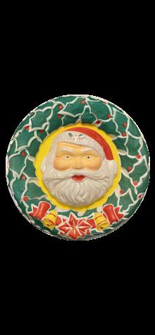 Illuminated Santa Wreath photo