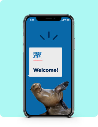Welcome screen on phone