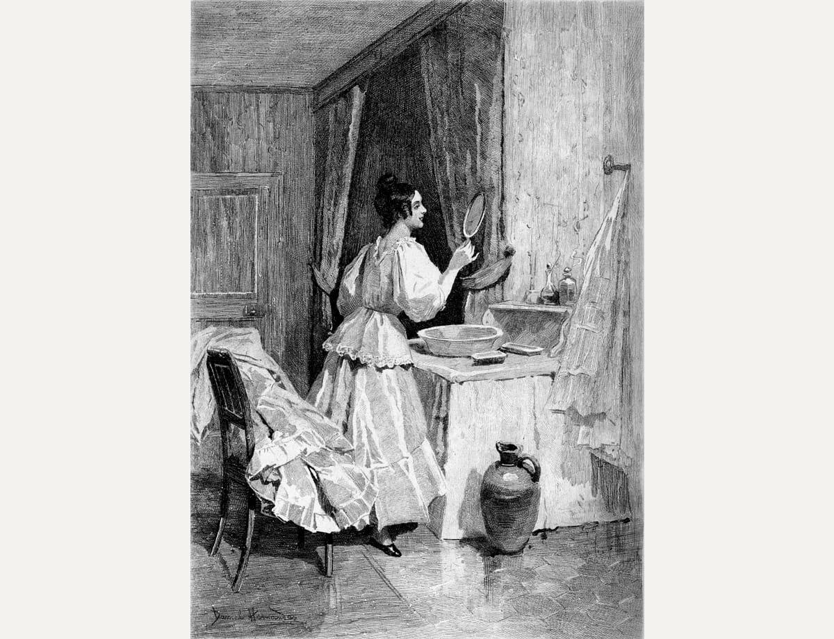 Иллюстрация кроману Оноре деБальзака «Евгения Гранде». Художник Даниэль Эрнандес, 1897