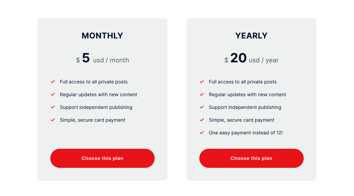 Subscription plans in penang