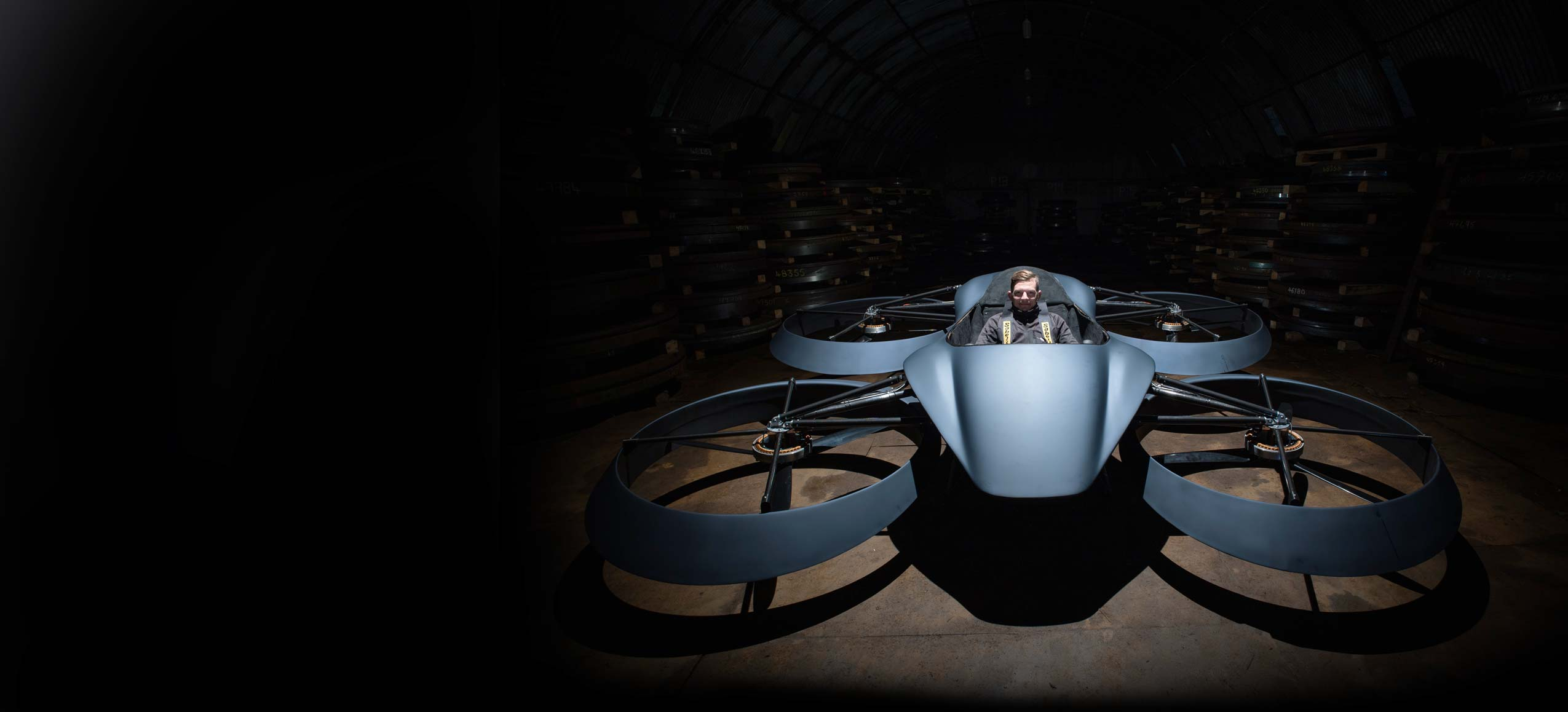 Manned drone (quadcopter)
