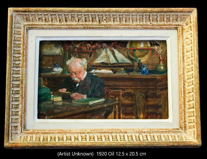A picture of Paul Durand Ruel in his office at home. The artist is unknown. Circa 1920