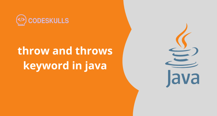 throw and throws keyword in java
