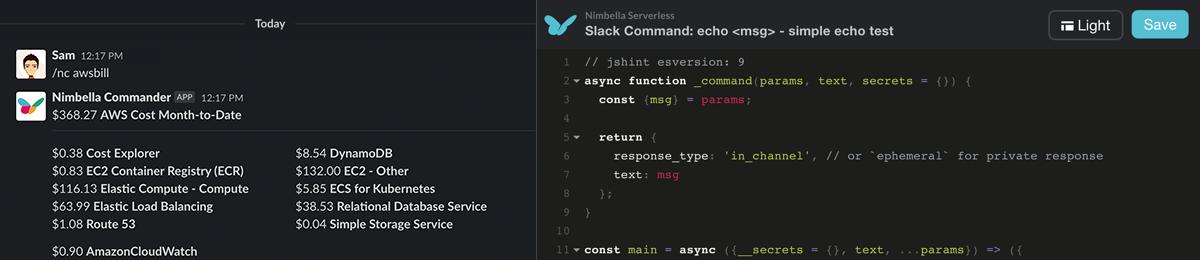 Commander for Slack