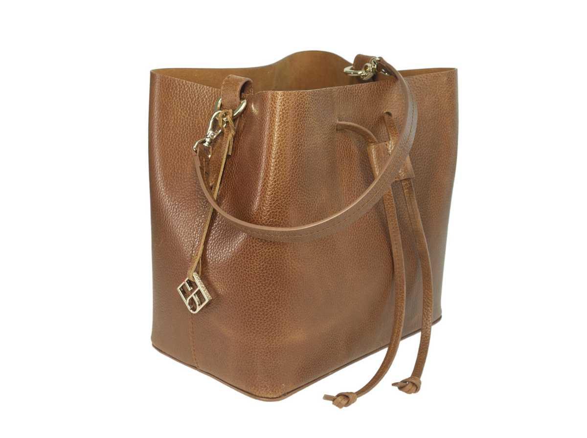 Alya Bucket Small - cognac brown