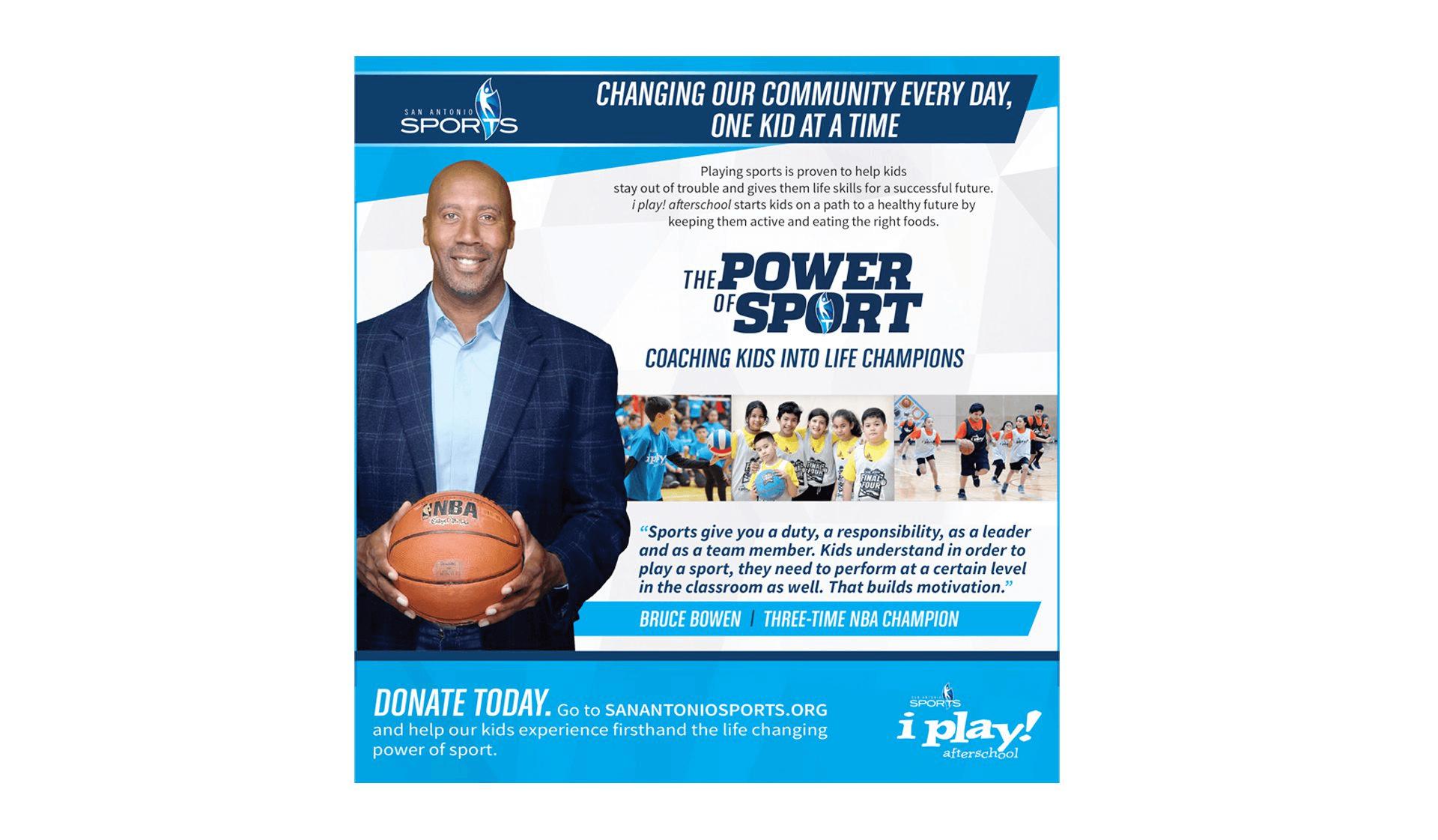 SA Sports Print Ad with Bruce Bowen