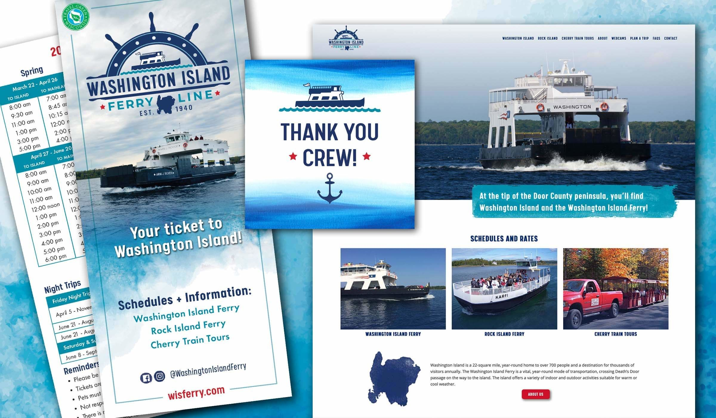 Branding for the Washington Island Ferry