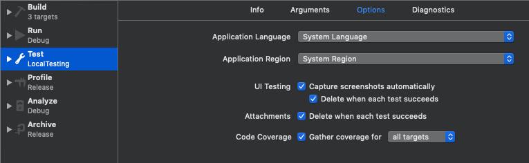 Scheme settings screenshot