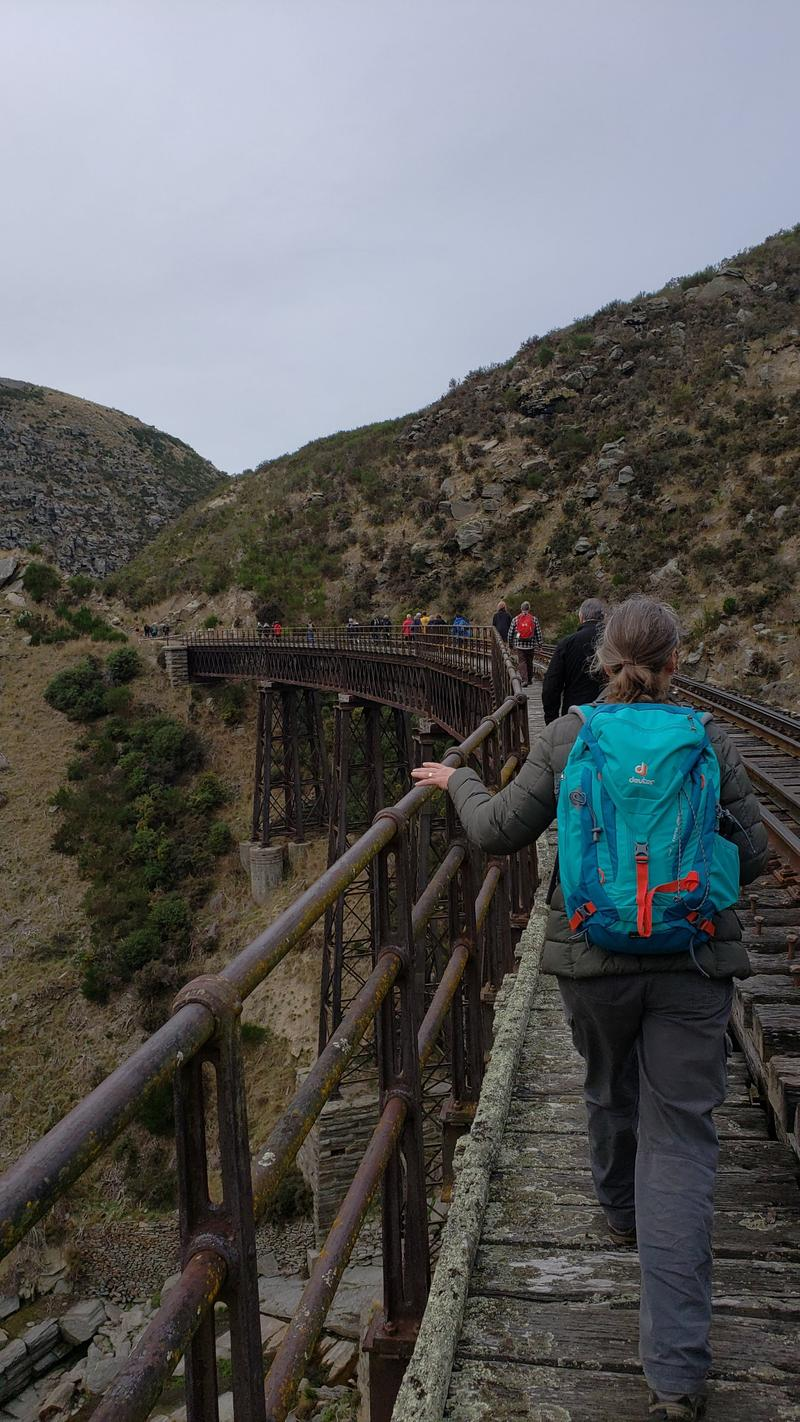 Walking across bridges