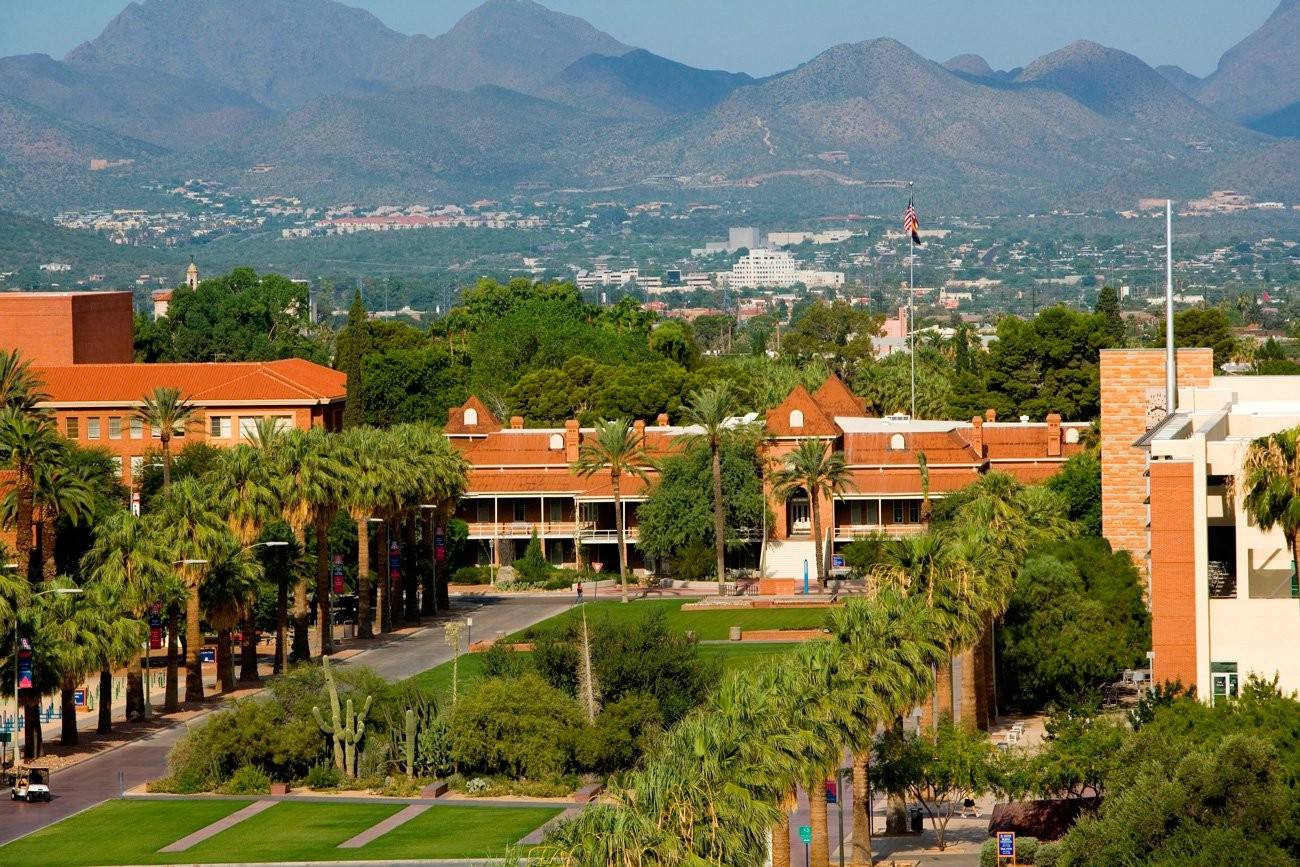 Campus arial view of the University of Arizona