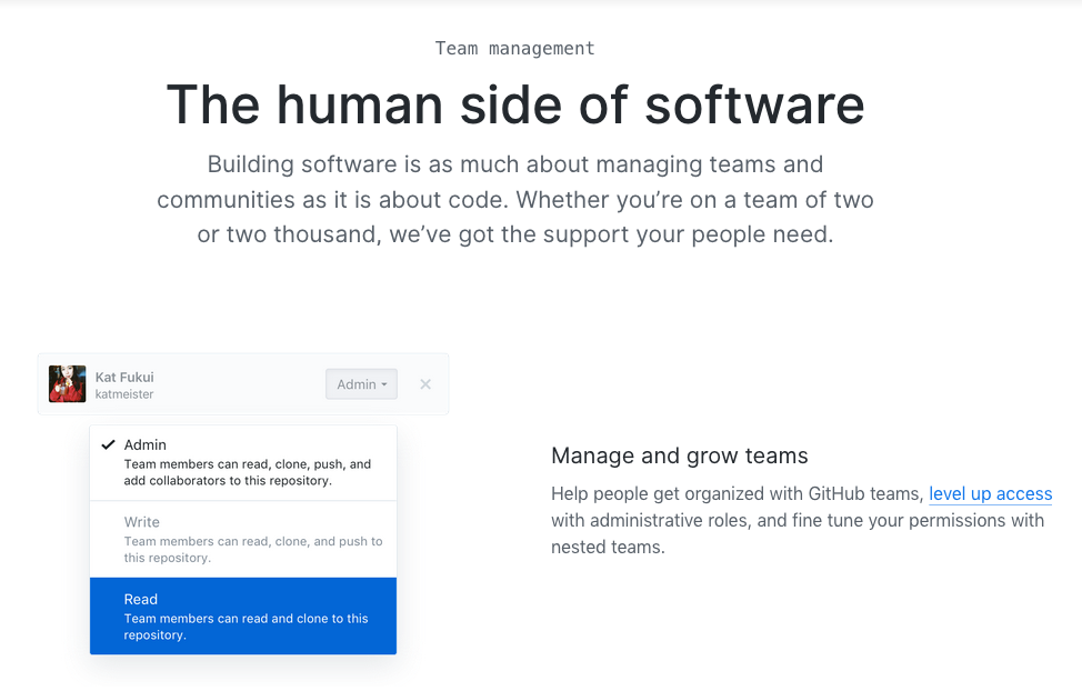 Screenshot of GitHub's website