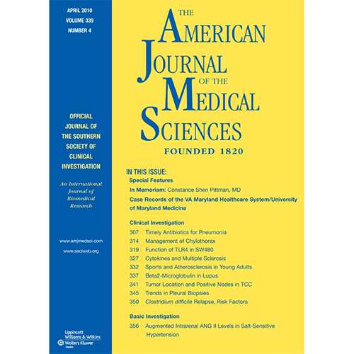 The American Journal of the Medical Sciences. PMID: 18414076