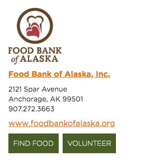 Food bank website logo
