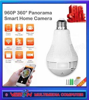 Spy Cam Hidden Camera Lampu Bulb