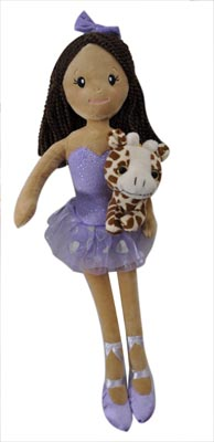 "The Petting Zoo: 17"" Ballerina with Giraffe Assortment"