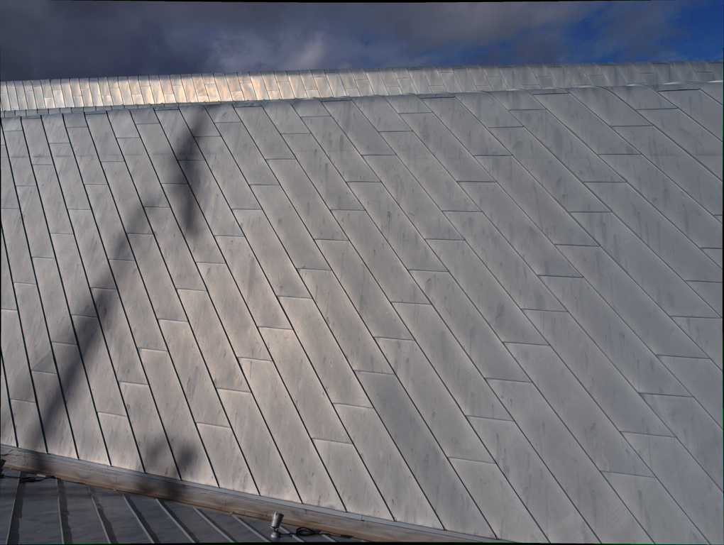 beautiful silver zinc roofing eco-friendly material