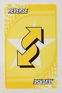 NSYNC Yellow Uno Reverse Card
