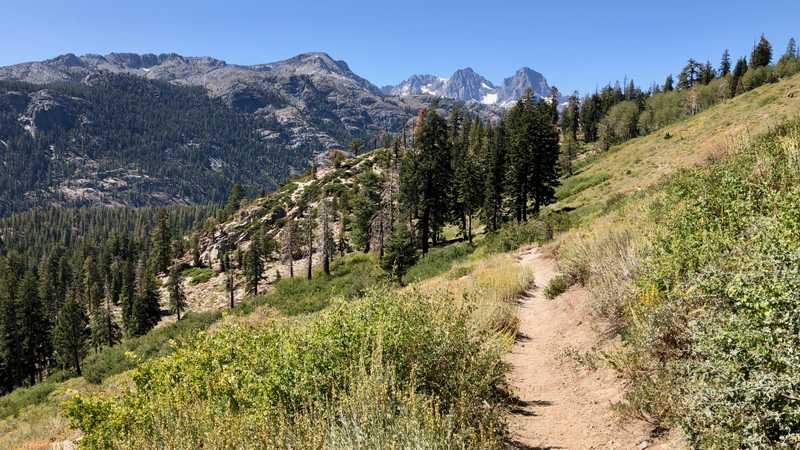 Looking back to Mt. Ritter and Banner Peak