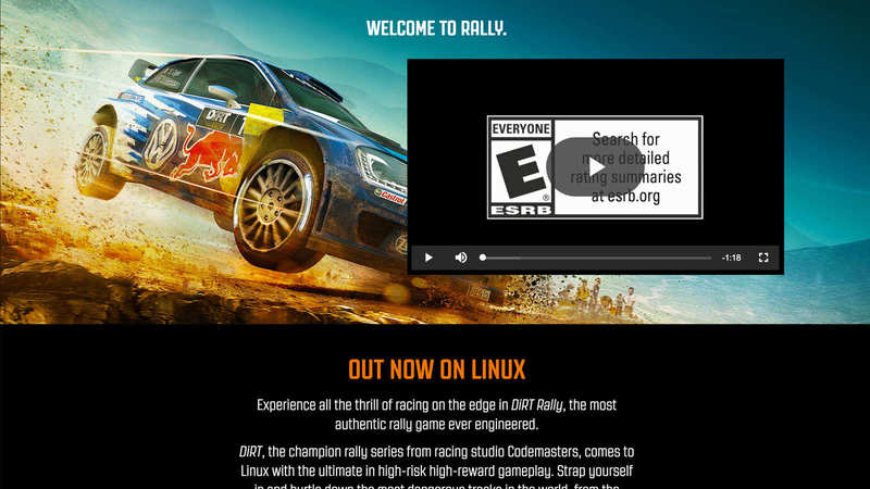 DiRT Rally for Linux   Feral Interactive