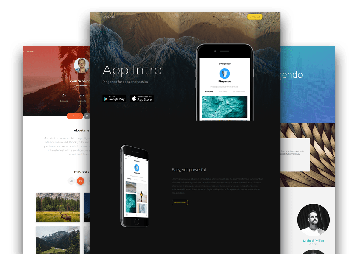 Pingendo Bootstrap themes