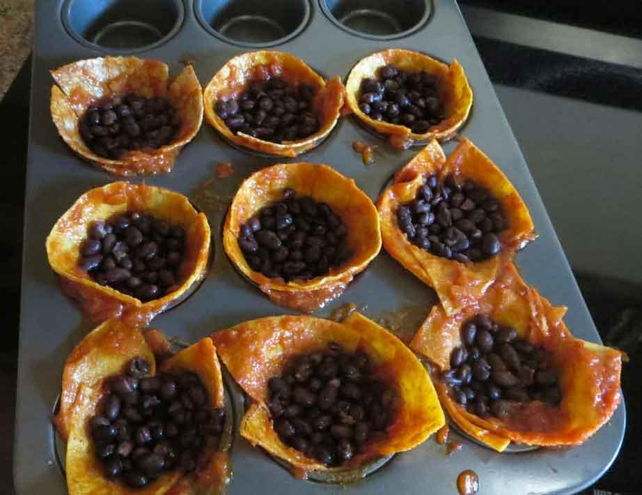 vegan enchilada mini cakes