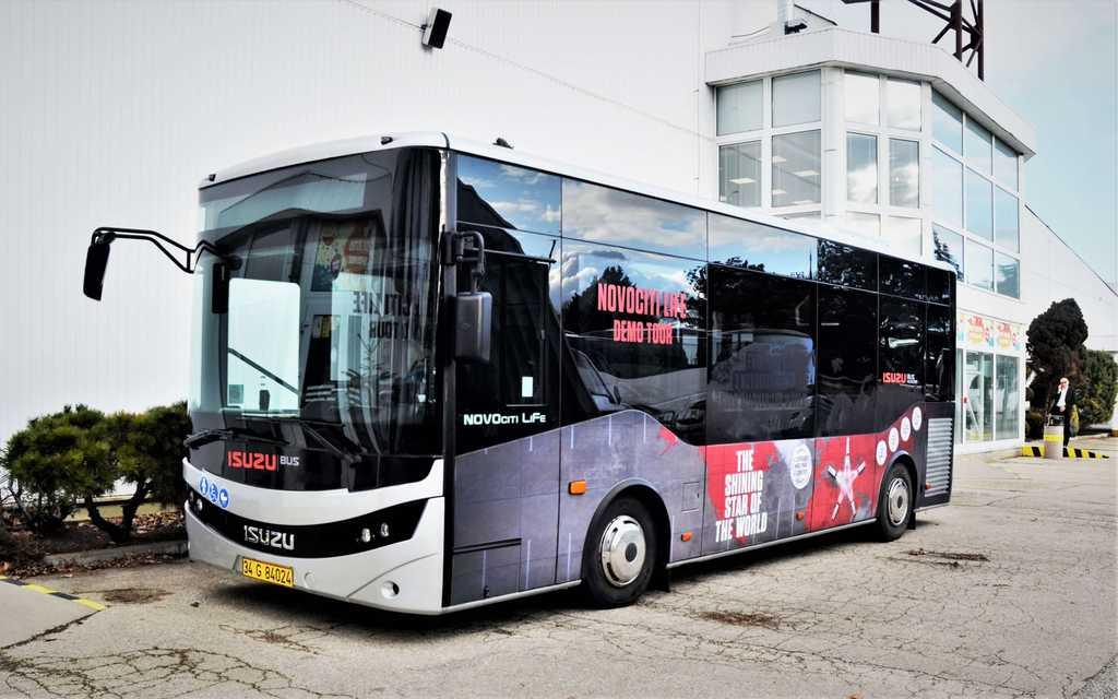 Testovací jízda městského autobusu ISUZU NovoCiti Life na Slovensku